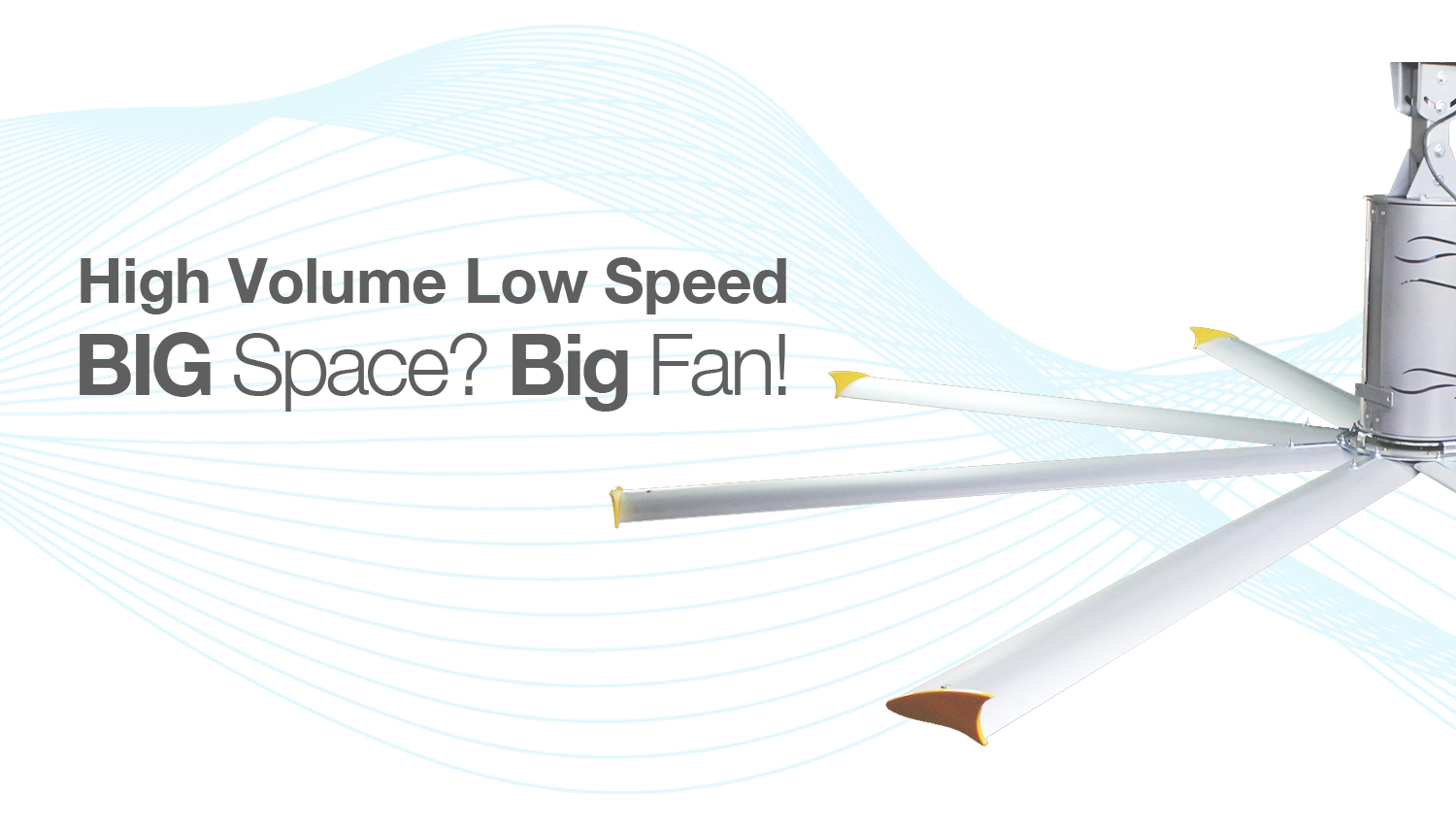 High Volume Low Speed Fan : Spacefans the most natural cooling solutions for big
